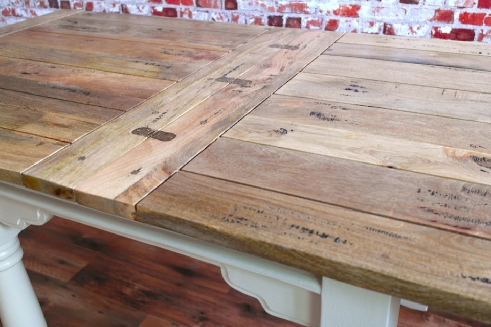Extending Rustic Folding Dining Table Drop Leaf Space Saving Extendable With Drop Leaf Extendable Dining Tables (Image 17 of 25)