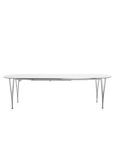Extension Table B619, Fritz Hansen, Super-Elliptical - Plus Store with regard to Lassen Extension Rectangle Dining Tables