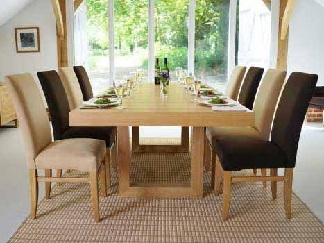Extra Large Dining Tables. Wide Oak & Walnut Extending Dining Tables In Oak Dining Suite (Photo 13 of 25)