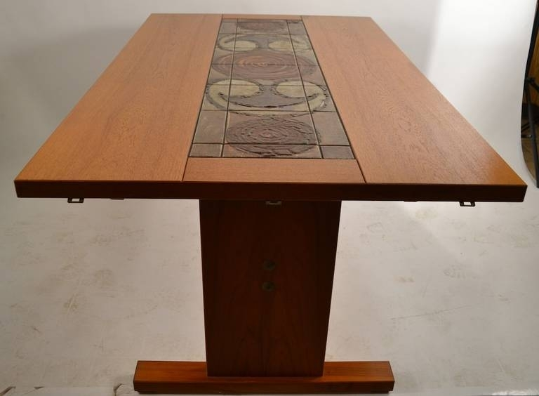 Extra Long Danish Ox Art, Drop Leaf Dining Table With Tile With Cheap Drop Leaf Dining Tables (View 23 of 25)
