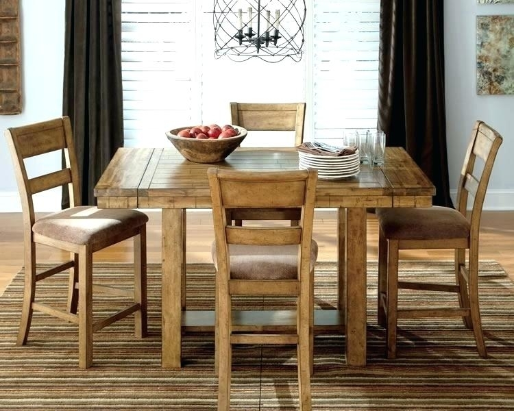 Extraordinary Hyland Counter Height Dining Room Table And Bar Stools With Hyland 5 Piece Counter Sets With Stools (Image 13 of 25)