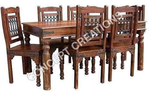 Extraordinary Indian Wood Dining Table Indian Wooden Dining Table Throughout Indian Dining Tables (Image 7 of 25)
