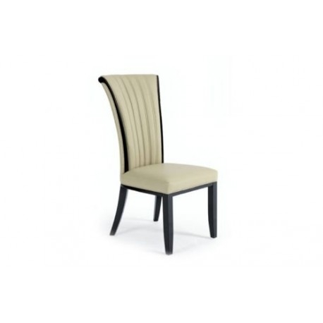 Fabriano Italian Designer Leather Dining Chair – Avreli Beds Regarding Cream Leather Dining Chairs (View 5 of 25)