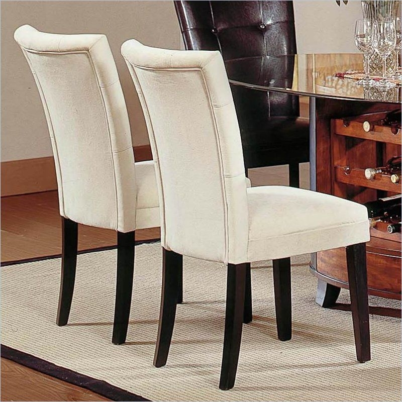 Featured Photo of Fabric Covered Dining Chairs