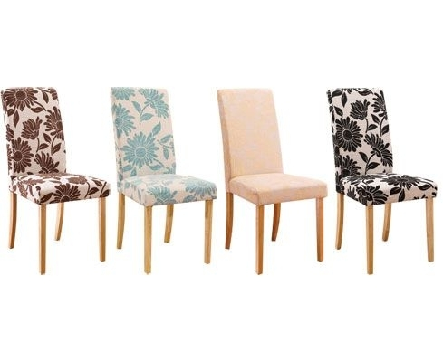 Fabric Covered Dining Room Chairs Decor Ideasdecor Ideas Regarding Fabric Covered Dining Chairs (View 6 of 25)