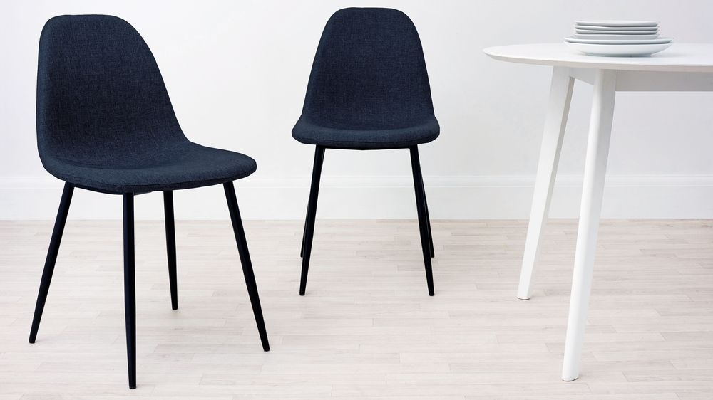 Fabric Dining Chair | 4 Black Legs | Uk Delivery Regarding Black Dining Chairs (View 21 of 25)