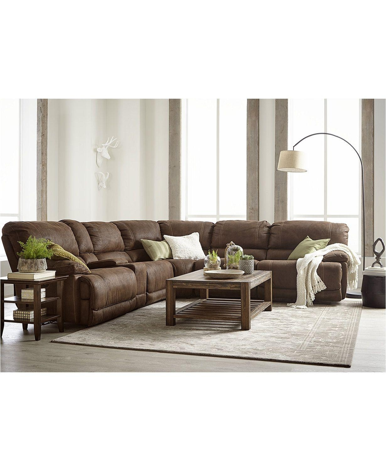 Fabric Sectional Sofa With Power Recliner   Baci Living Room For Declan 3 Piece Power Reclining Sectionals With Right Facing Console Loveseat (View 21 of 25)