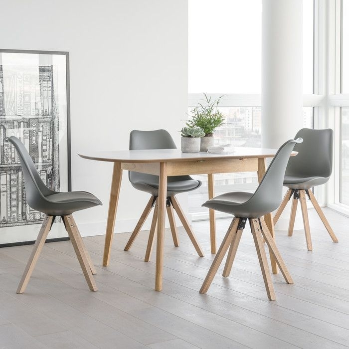 Fabron Extendable Dining Set With 4 Chairs | Extendable Dining Table With Extendable Dining Tables And 4 Chairs (View 4 of 25)