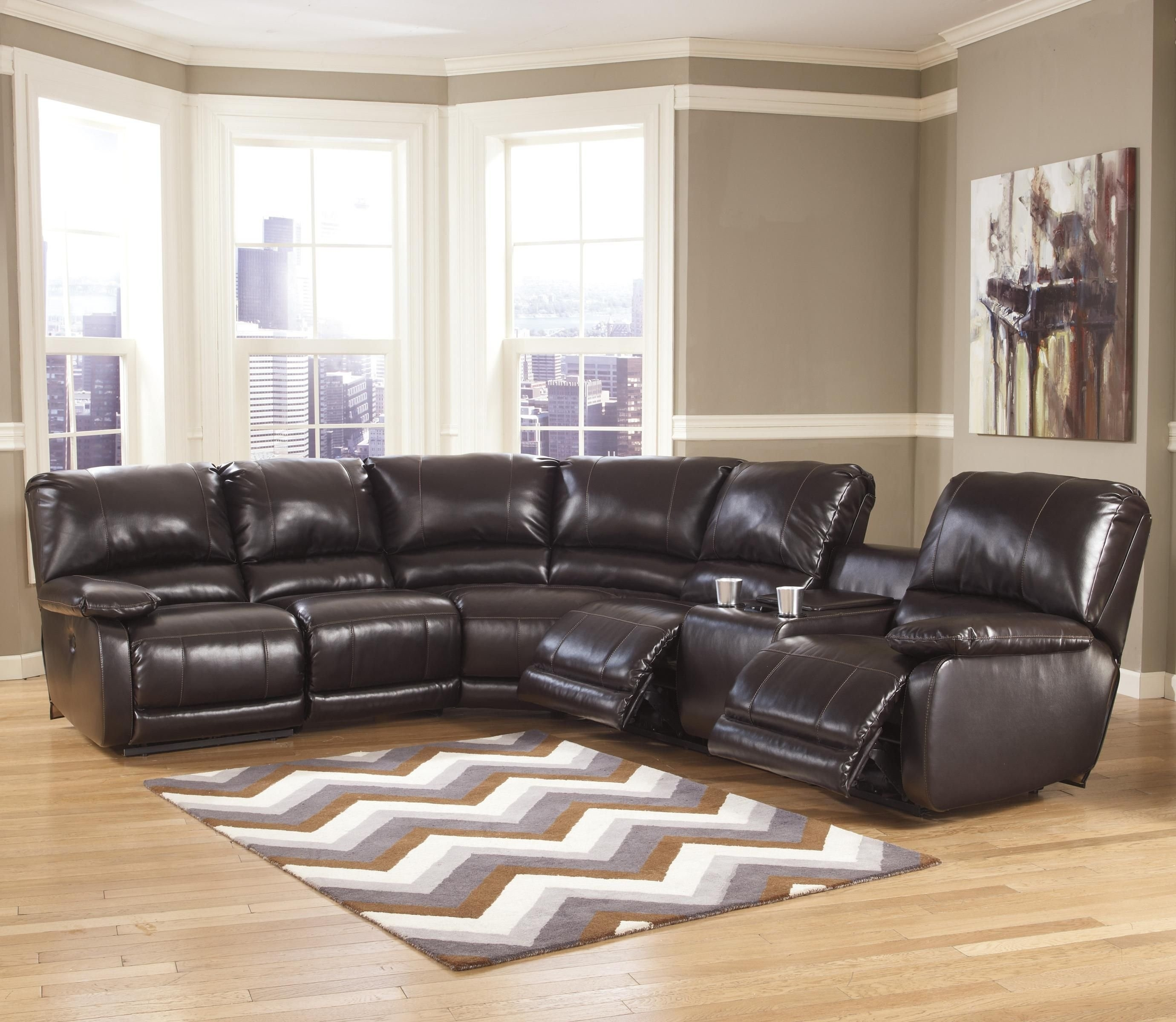 Fabulous 25 Power Reclining Sectional Sofa Favorite Throughout Calder Grey 6 Piece Manual Reclining Sectionals (Image 10 of 25)