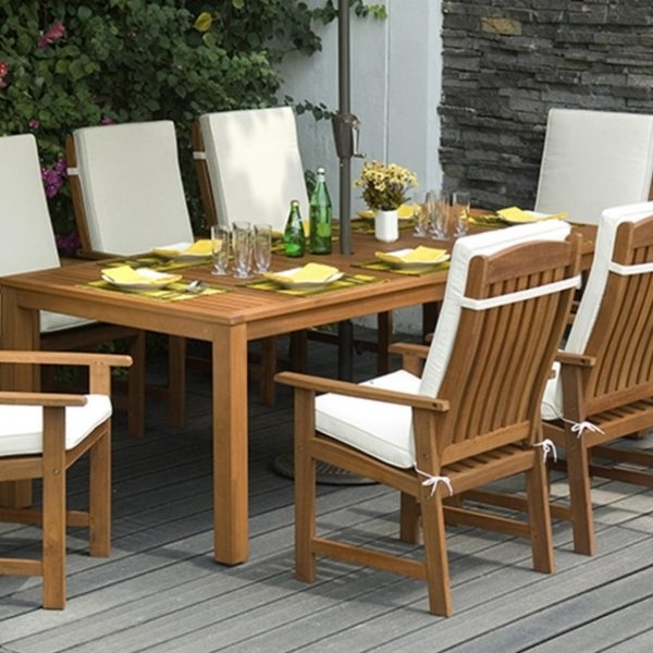 Fabulous Garden Dining Table And Chairs Parsons Garden Wooden Dining For Garden Dining Tables (View 23 of 25)