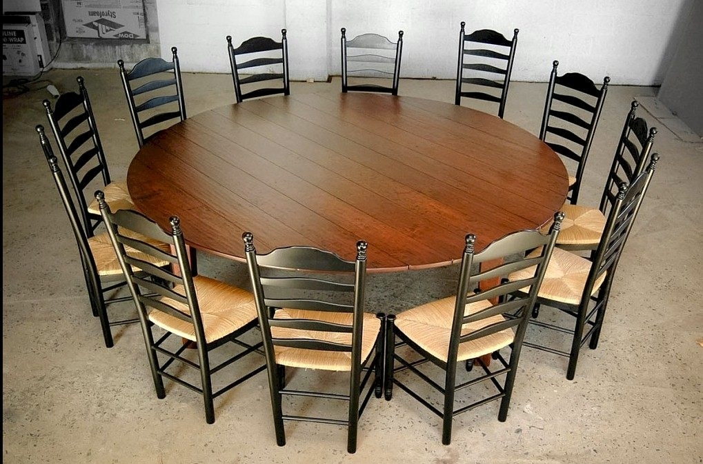 Fabulous Large Round Dining Table Seats 12 Of Tables Marvellous Inside Huge Round Dining Tables (Image 11 of 25)