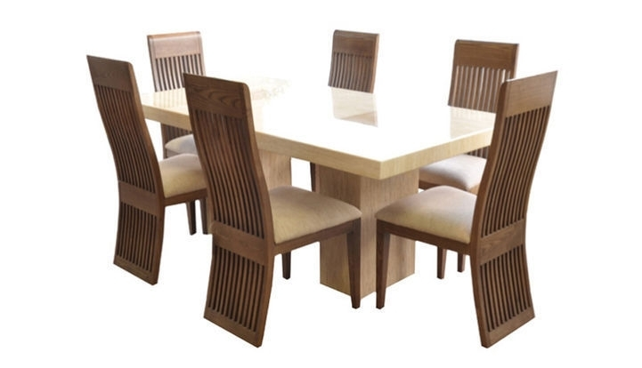 Fabulous Marble 1.8M Dining Table And 6 Chairs (Image 6 of 25)