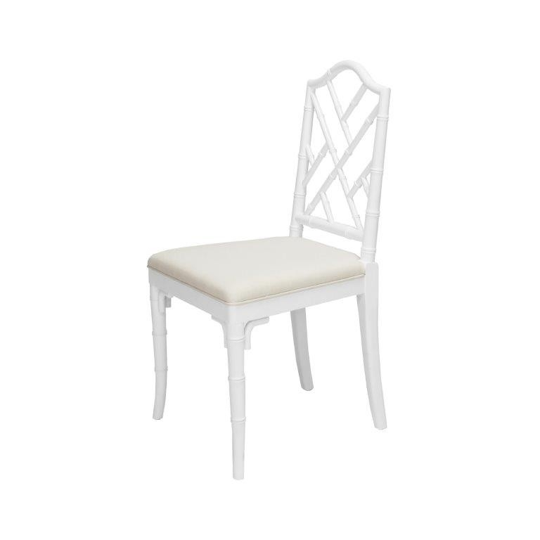 Fairfield Chippendale Bamboo White Dining Chair | Shop Now Throughout White Dining Chairs (Image 11 of 25)