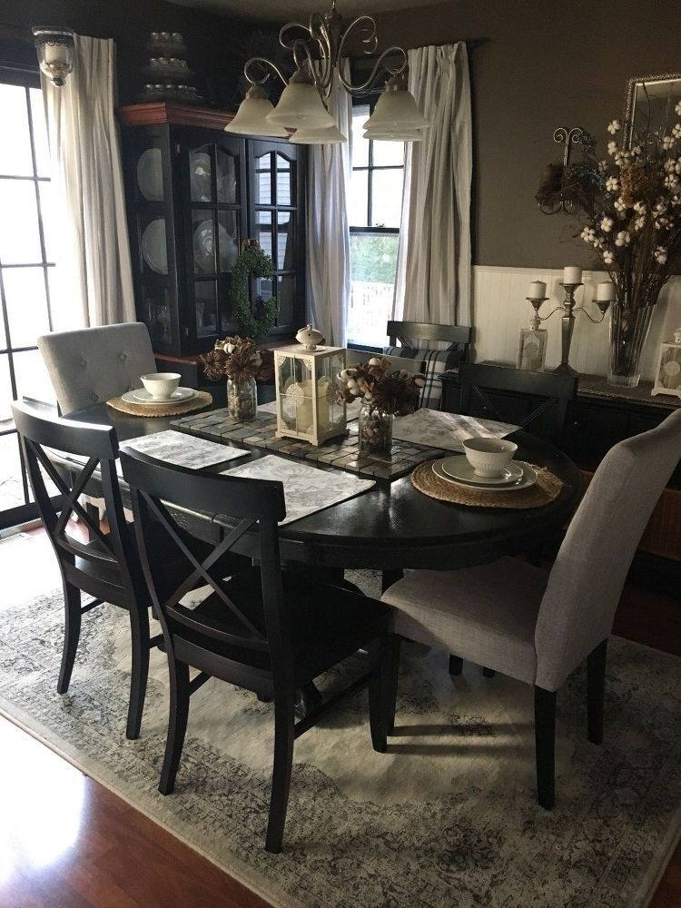 Fall Dining Room, Cape Cod Style | Dining Room For The Housee Throughout Delfina 7 Piece Dining Sets (View 23 of 25)