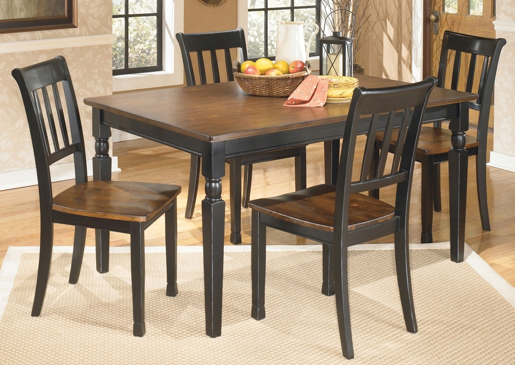 Family Furniture – Perry, Ny Owingsville Rectangular Dining Table W With Regard To Craftsman 5 Piece Round Dining Sets With Uph Side Chairs (Image 12 of 25)