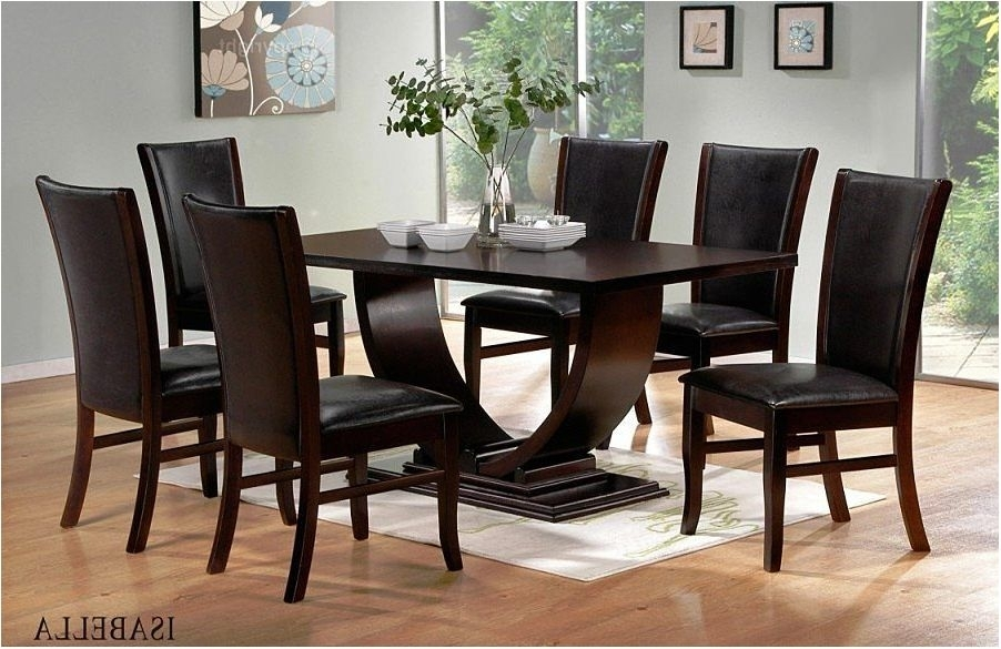 Fantastic Contemporary Dining Room Table Black Table Legs Shaped X Pertaining To Dark Wood Dining Room Furniture (Image 19 of 25)