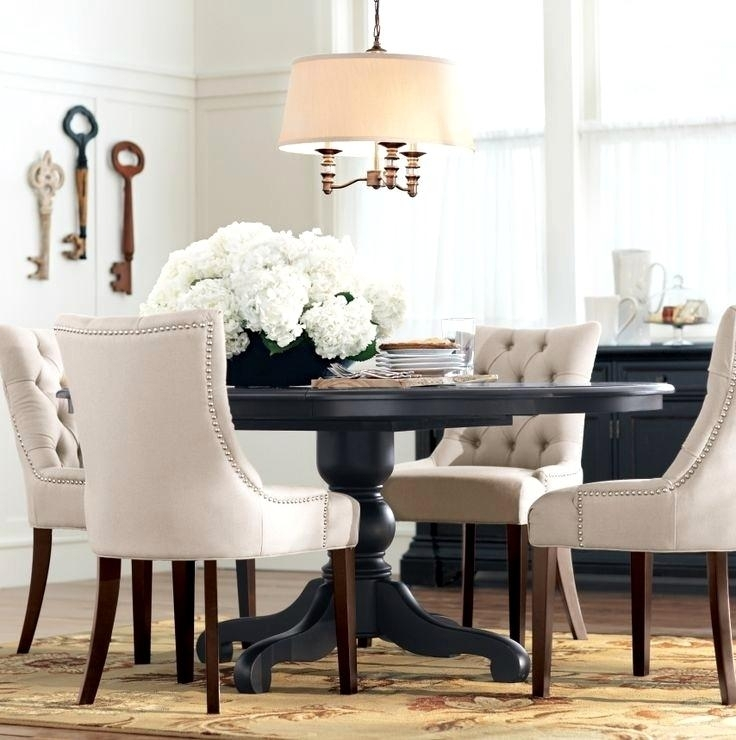 Fantastic Dining Furniture Chairs Design Black Round Dining Table Inside Dark Round Dining Tables (View 12 of 25)