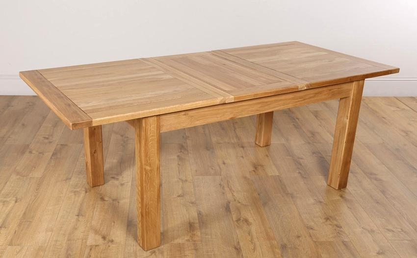 Fantastic Extending Solid Oak Dining Table Lovable Oak Extendable Throughout Extending Solid Oak Dining Tables (Image 11 of 25)