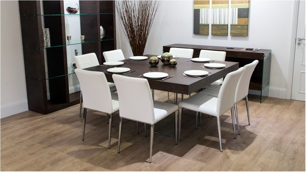 Fantastic Large Square Dark Wood Dining Table Glass Legs 6 8 Quilted Inside Dark Wood Dining Tables And 6 Chairs (Image 17 of 25)