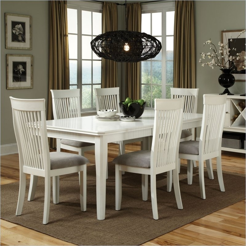 White Wood Dining Room Table: 2019 Latest White Dining Tables Sets