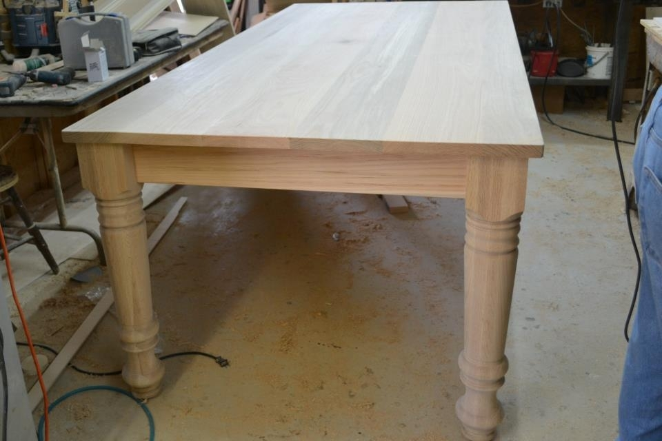 Farm Dining Tablethe Carpenter Shop – Osborne Wood Videos Throughout Dining Tables With Large Legs (Image 10 of 25)
