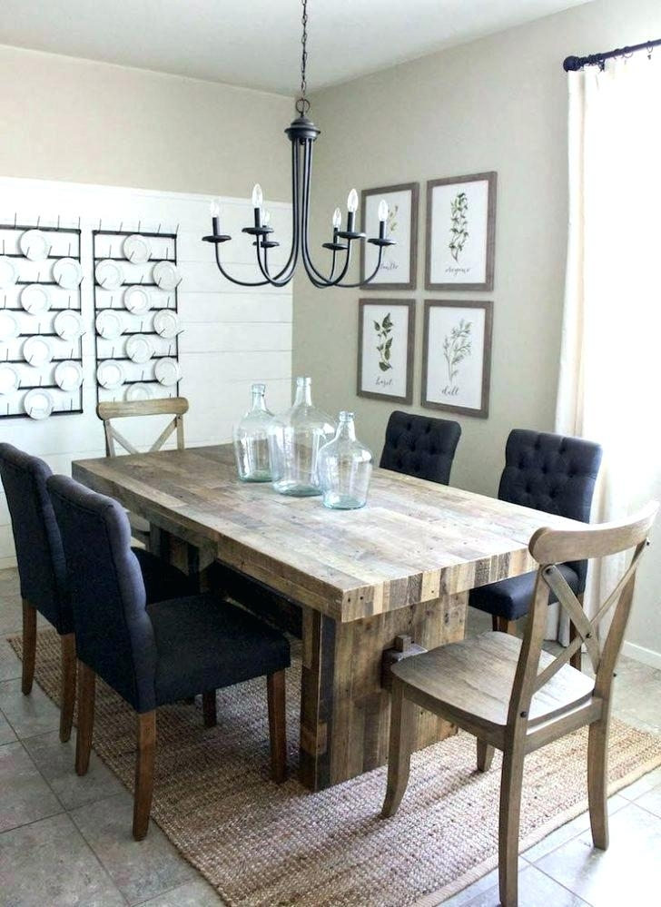 Farm House Dining Tables Farmhouse Chairs Rustic Metal Wood With A Inside Barn House Dining Tables (Image 17 of 25)