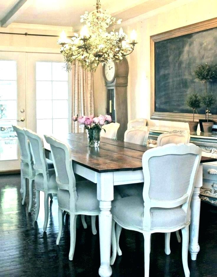 Farm Table Dining Room Round Country Dining Table French Farmhouse Inside Country Dining Tables (Image 11 of 25)