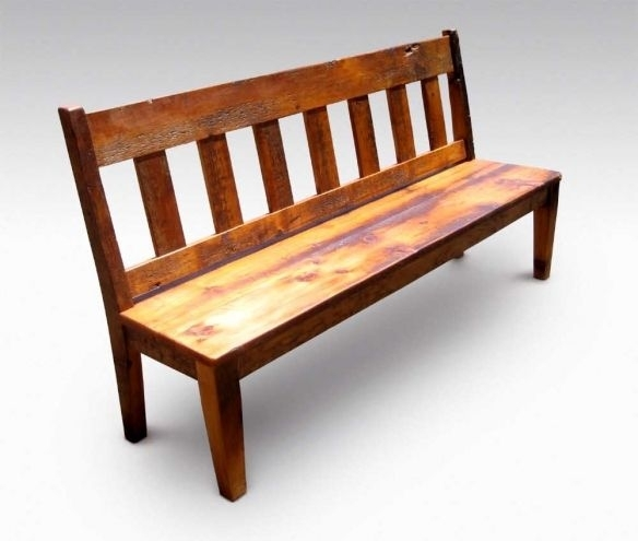 Farm Table Slatted Bench With Back | ❤ Where The Heart Is For Bench With Back For Dining Tables (View 17 of 25)