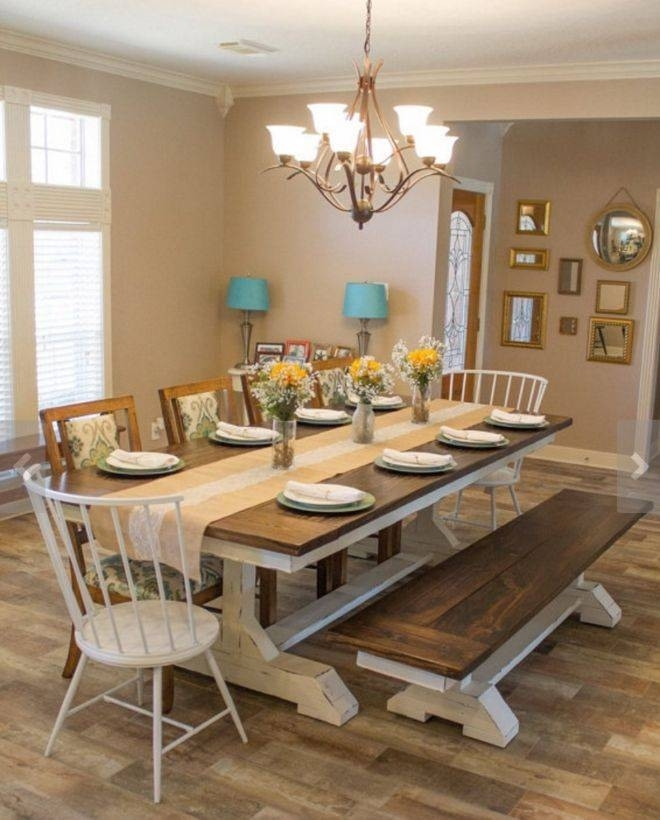 Farmhouse Dining Table Set Best Of Fabulous Farm Style Dining Room Inside Dining Room Tables (Image 13 of 25)