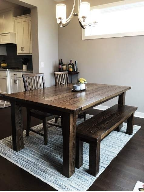 Farmhouse Dining Tables And Benches Intended For Farm Dining Tables (View 11 of 25)