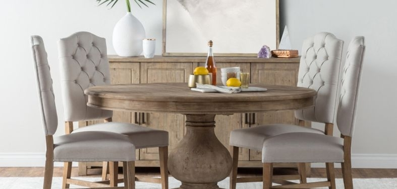 Farmhouse Dining Tables And Chairs Regarding Farm Dining Tables (Image 16 of 25)