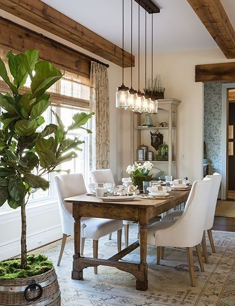Farmhouse Lighting | Decorating | Pinterest | House, Room And Dining Pertaining To Dining Tables Lighting (Image 9 of 25)