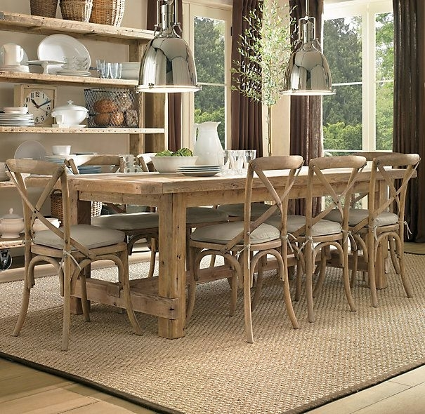 Farmhouse Salvaged Wood Rectangular Extension Tables | Rectangular Throughout Benson Rectangle Dining Tables (Image 14 of 25)