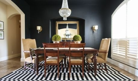 Farmhouse Table With Black Leather Contemporary Sofa? With Regard To Palazzo 7 Piece Rectangle Dining Sets With Joss Side Chairs (View 18 of 25)
