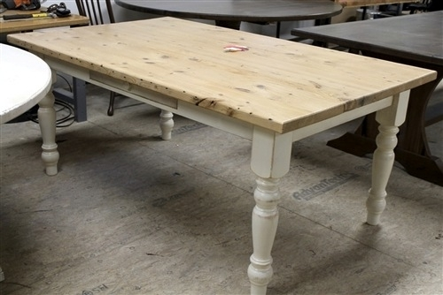 Farmhouse Tables Intended For Dining Tables With White Legs (Image 12 of 25)