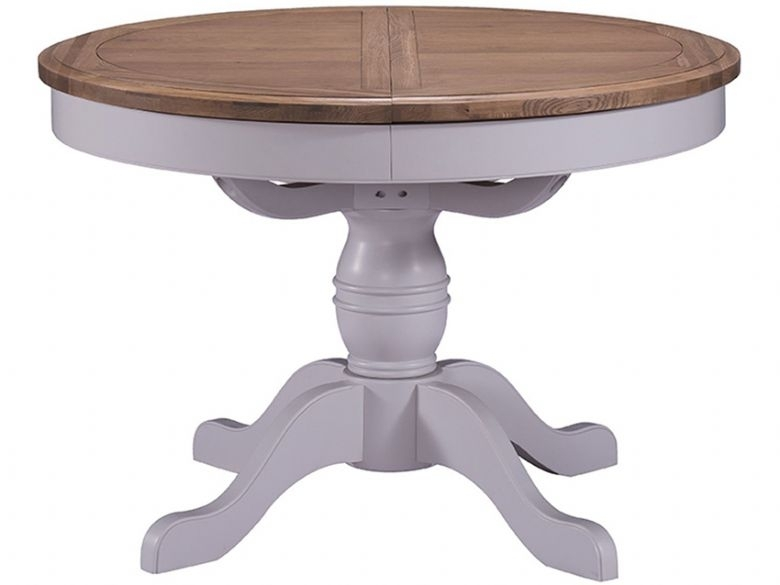 Farndon Painted Extending Round Pedestal Dining Table – Lee Longlands Intended For Extendable Round Dining Tables (Image 14 of 25)