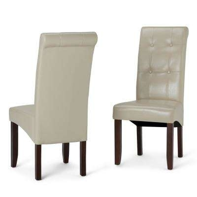 Faux Leather – Beige – Dining Chairs – Kitchen & Dining Room Throughout Cream Faux Leather Dining Chairs (Image 12 of 25)