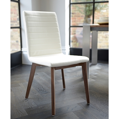 Faux Leather Dining Chairs | Contemporary Dining Room Furniture From Regarding Cream Faux Leather Dining Chairs (Image 13 of 25)