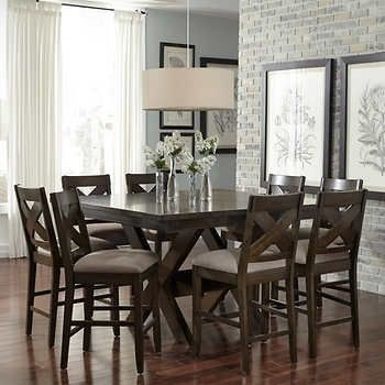 Felicia 9 Piece Counter Height Dining Set   Furniture In 2018 In Jaxon 5 Piece Extension Counter Sets With Wood Stools (Image 14 of 25)