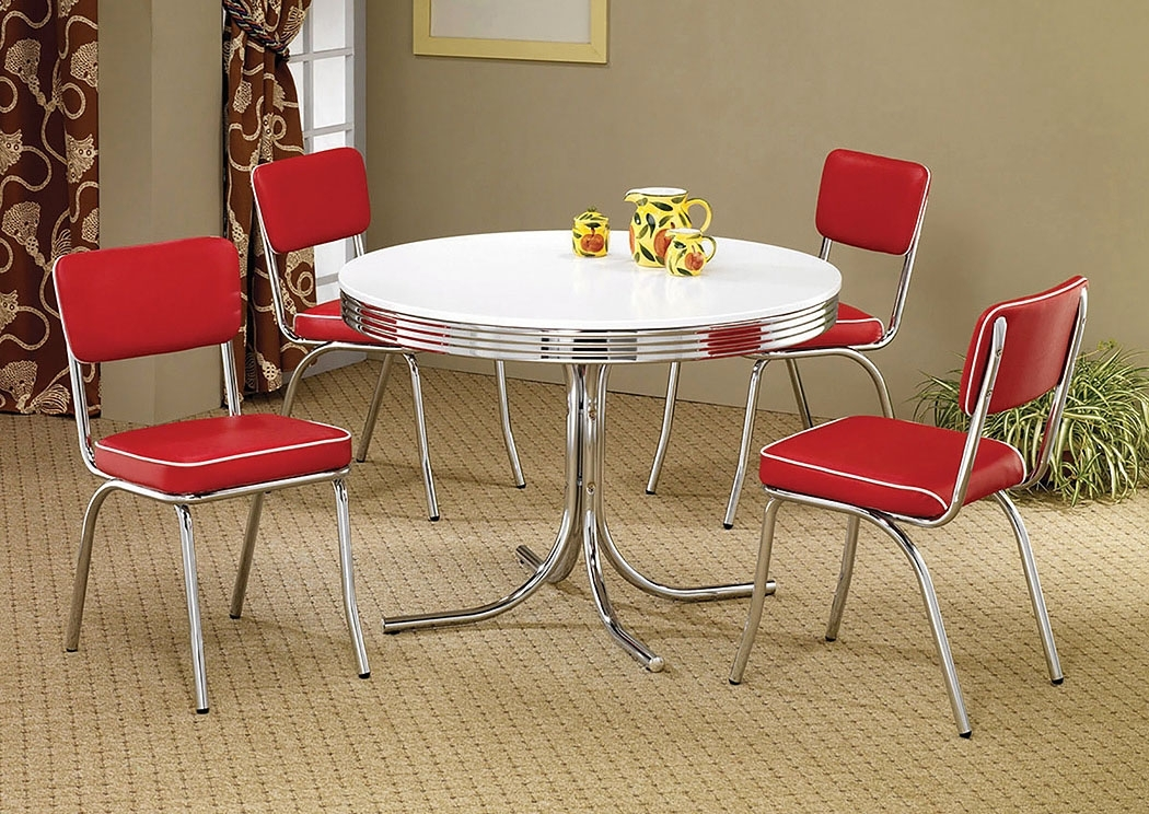 Find Outstanding Furniture Deals In Arlington Heights, Il Round With Regard To Retro Dining Tables (Image 6 of 25)