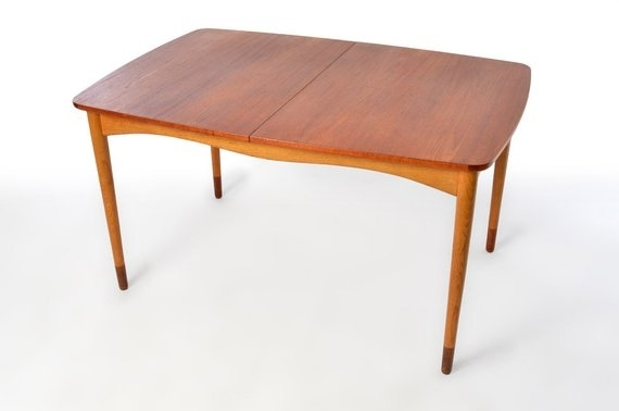 Finn Juhl For Bovirke Dining Table Extensions Leaves Teak Mid | Etsy For Chapleau Ii Extension Dining Tables (View 7 of 25)