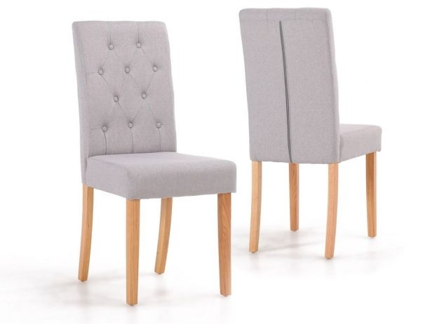 Finsbury Button Back Dining Chairs With Oak Wood Legs For Button Back Dining Chairs (Image 17 of 25)