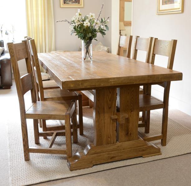 Fitzwilliam 7Ft Oak Dining Table – Rathwood Uk Intended For Oak Dining Furniture (Image 6 of 25)