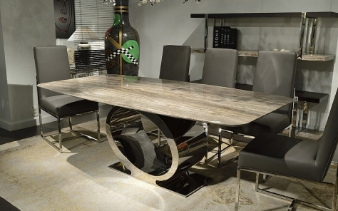 Fixed Dining Table, Buy Modern Luxury & Contemporary Fixed Dining Intended For Stone Dining Tables (View 20 of 25)