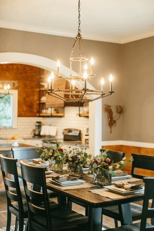 Fixer Upper In 2018 | Inspire: Lighting | Pinterest | Joanna Gaines In Magnolia Home Prairie Dining Tables (Image 13 of 25)