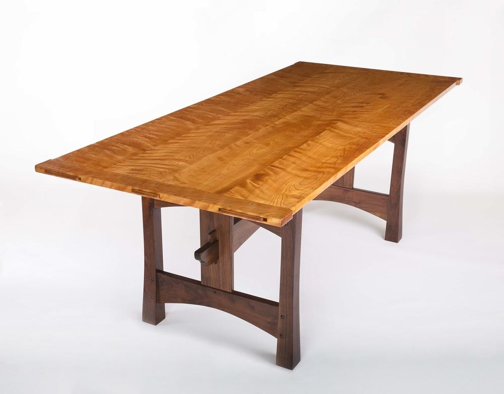 Flamed Birch & Walnut Dining Table — Lohr Woodworking Studio Regarding Birch Dining Tables (View 13 of 25)