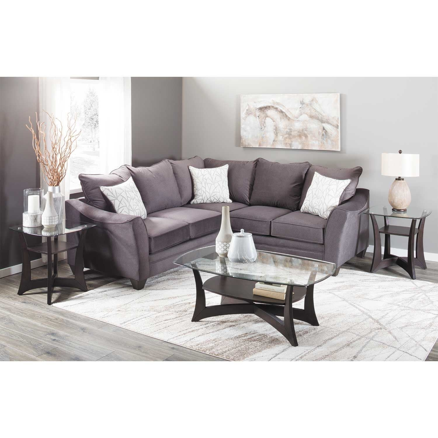 Flannel Seal 2 Piece Sectional With Raf Sofa | 3810/3816 | American Within Cosmos Grey 2 Piece Sectionals With Raf Chaise (View 20 of 25)
