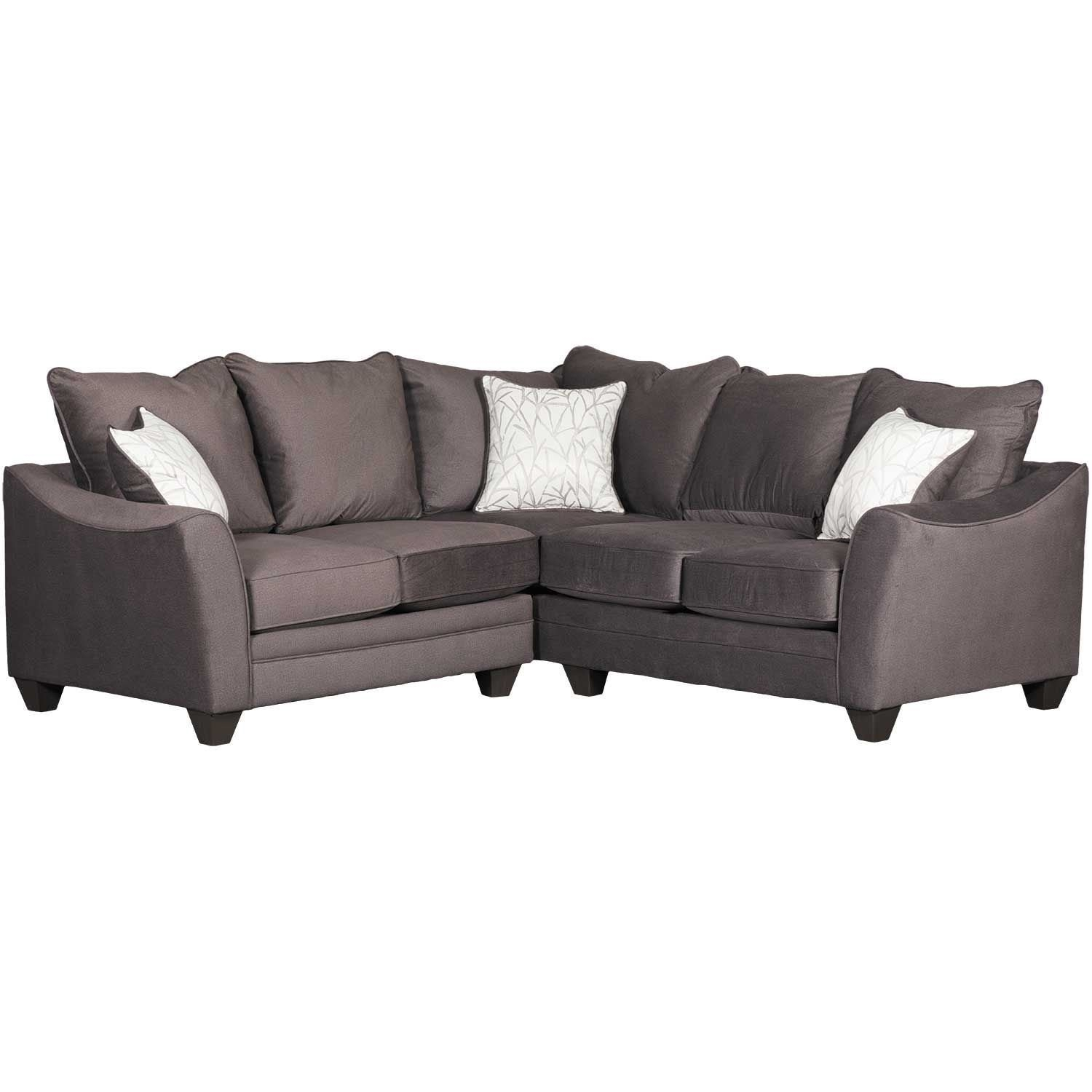 Flannel Seal 2 Piece Sectional With Raf Sofa | 3810/3816 | American Within Cosmos Grey 2 Piece Sectionals With Raf Chaise (Image 9 of 25)