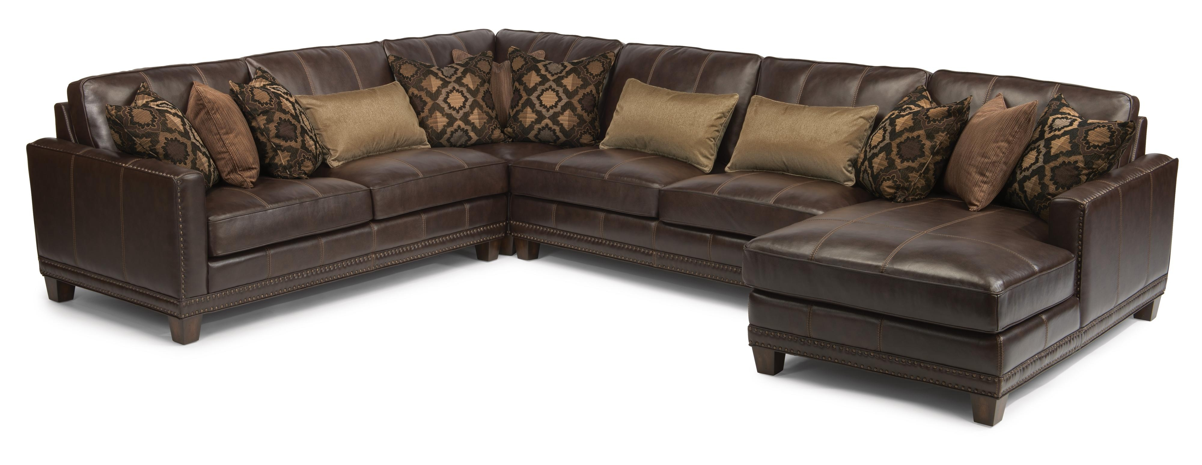 Flexsteel Latitudes – Port Royal Transitional Four Piece Sectional Pertaining To Meyer 3 Piece Sectionals With Raf Chaise (Image 10 of 25)