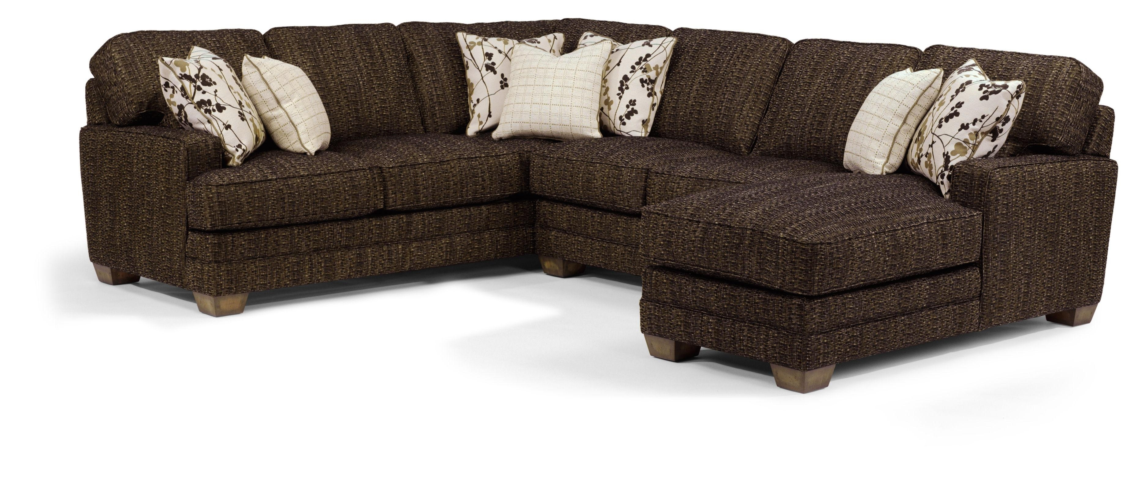 Flexsteel That's My Style <B>Customizable</b> 3 Piece Sectional Sofa For Delano 2 Piece Sectionals With Raf Oversized Chaise (Image 17 of 25)